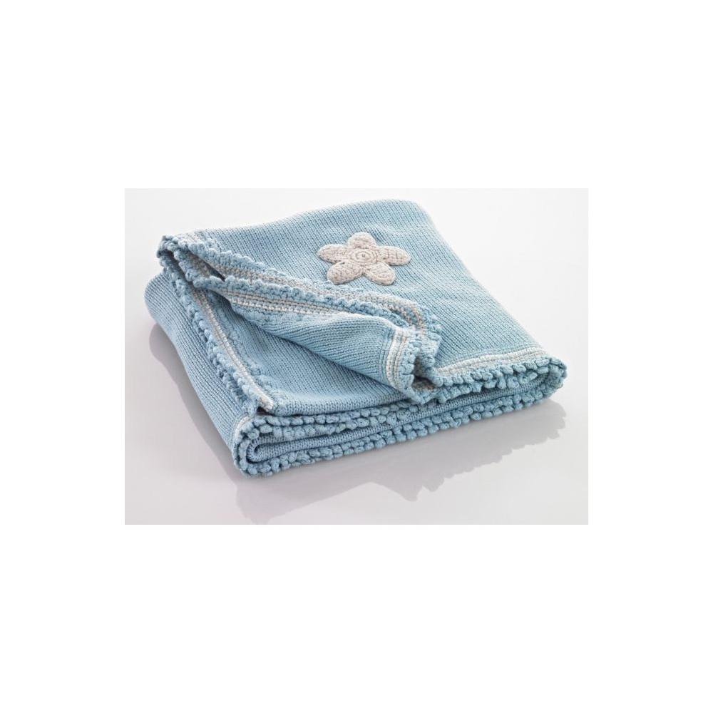 Pebble baby blanket Blue