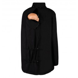 Wombat & Co Bandicoot Black & Black babywearing coat men