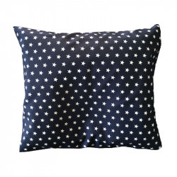 BabyDorm Pillow Case Blue white stars