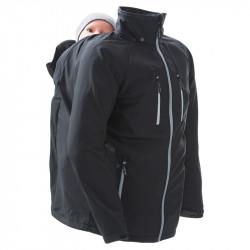 Mamalila Softshell Babywearing Jacket for men - black