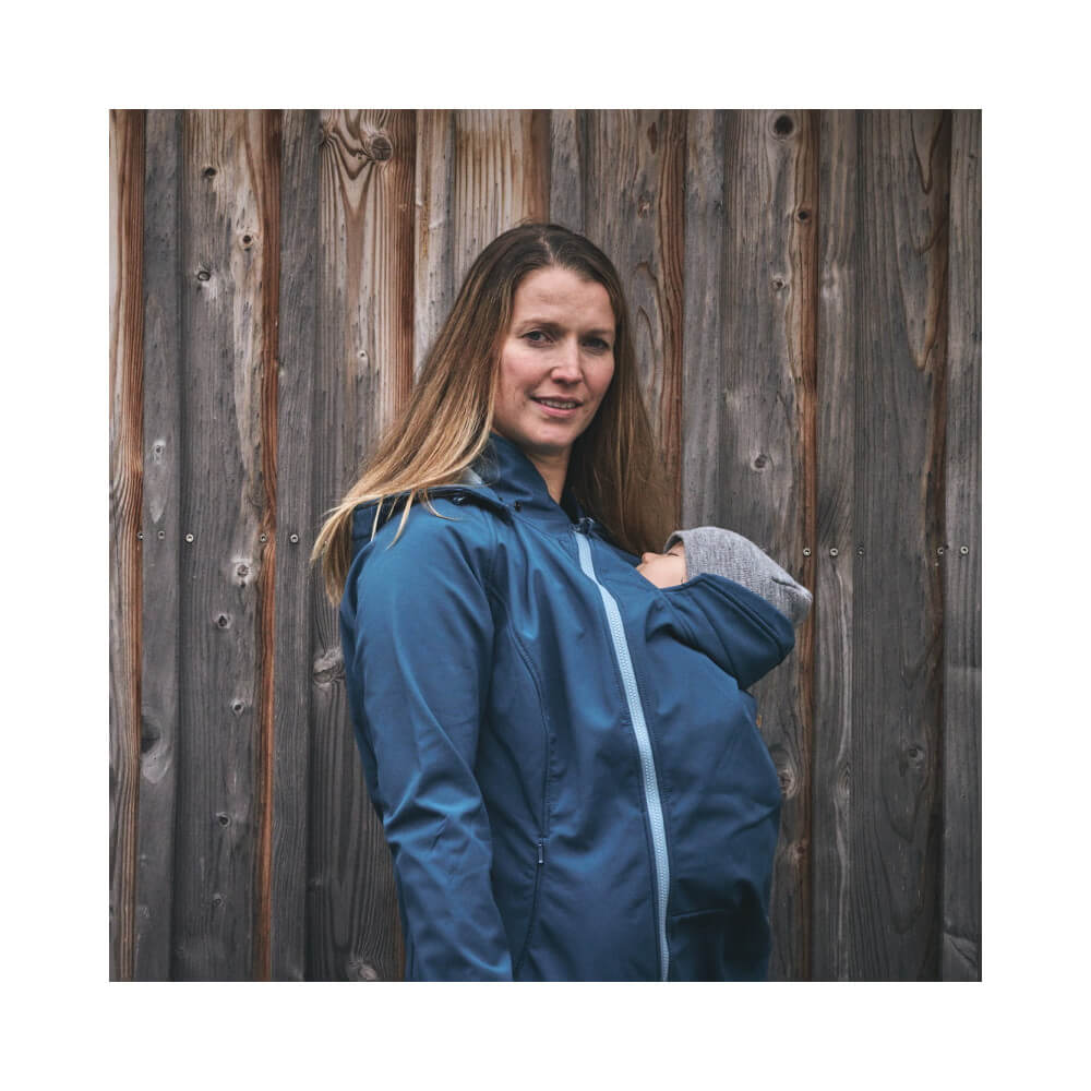 Mamalila Softshell Babywearing Jacket clickit - teal