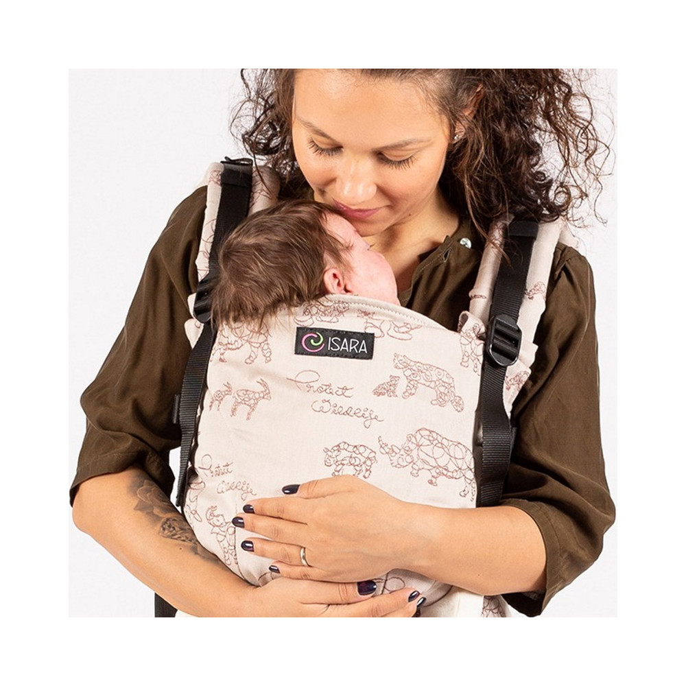 Isara The One Wildlife Sandy babycarrier