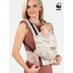 Isara Quick Full Buckle Wildlife Sandy babycarrier