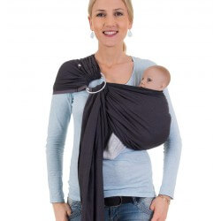 HOPPEDIZ Ring Sling London Black Grey