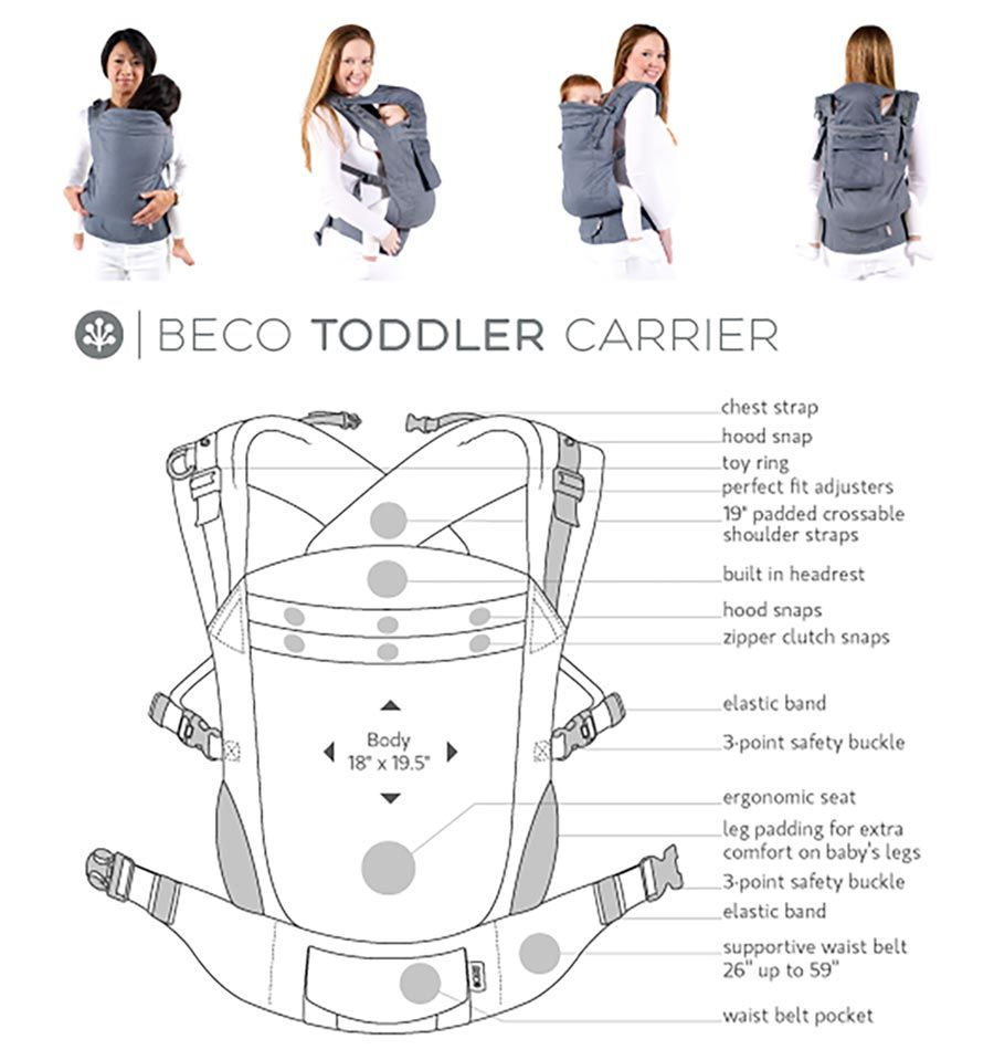 dfb10d57c49 ... Toddler Beco Toddler Carrier Cool Navy. Previous. Next